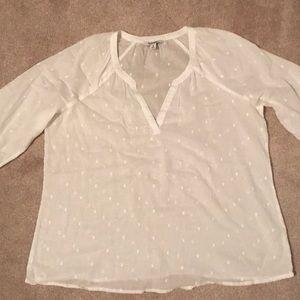 Old Navy white blouse